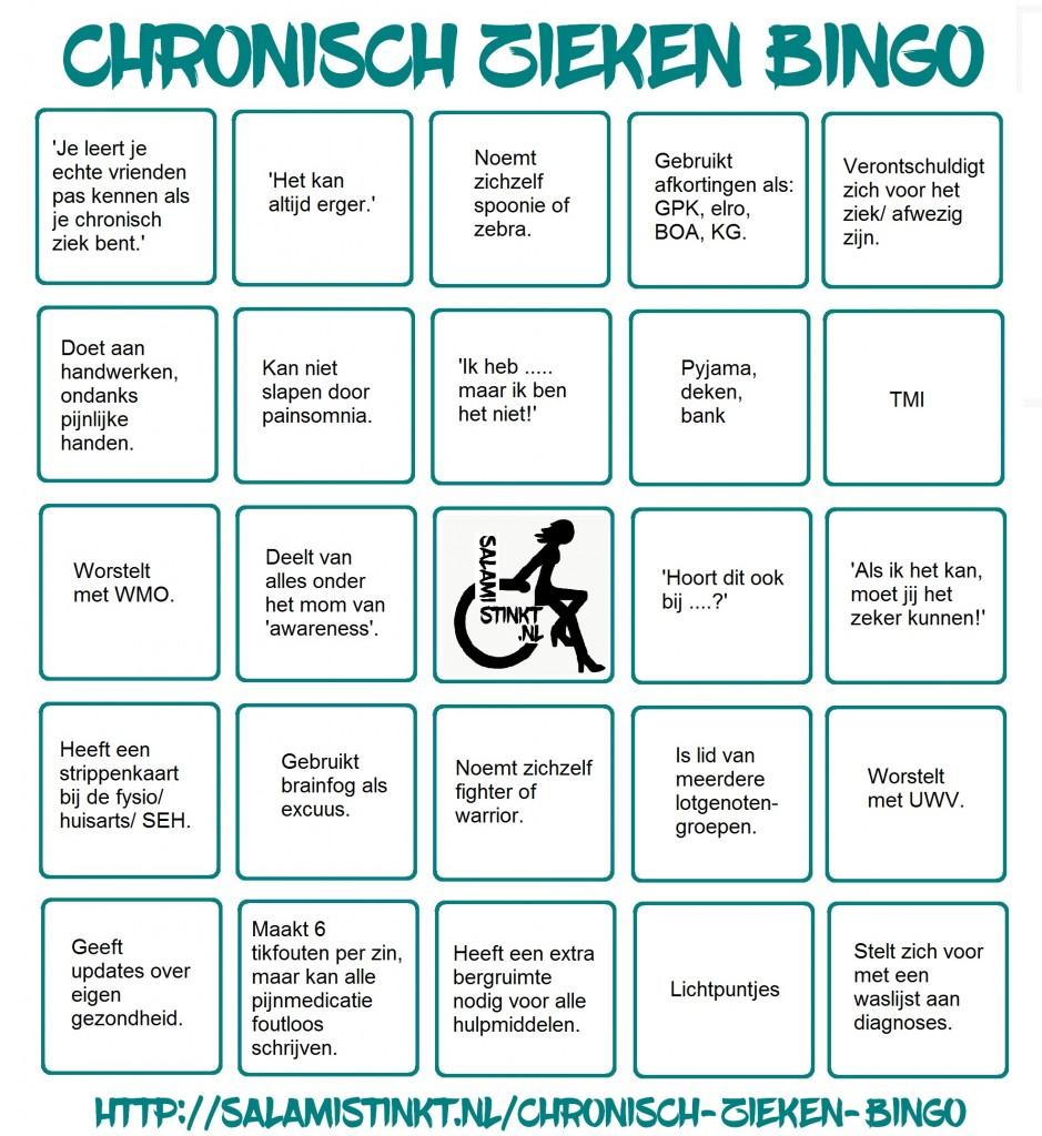 chronisch zieken bingo