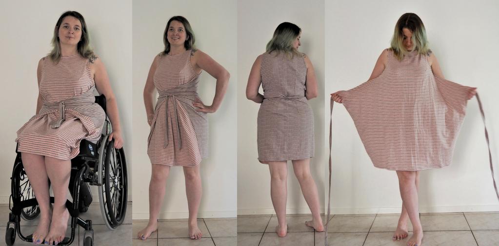 kielo wrap dress kort